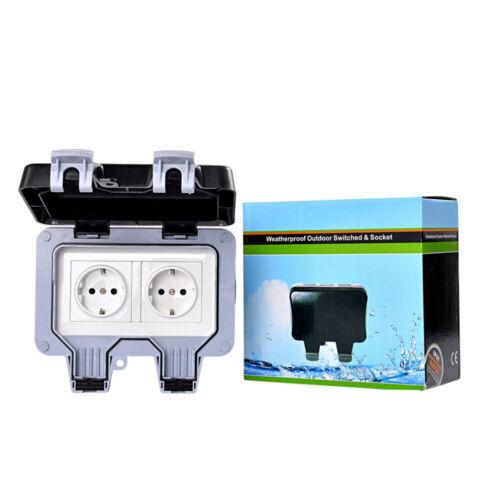 Wandsteckdose Für Den Außenbereich Wasserdicht /& staubdicht Steckdose IP66 250V