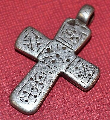 Antique Ethiopian Coptic Christian Orthodox Silver Cross Pendant Ethiopia Africa