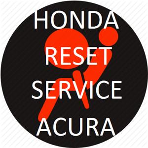 HONDA AIRBAG RESET REPAIR SERVICE MODELS SRS 2003 2004 2005 2006 2007 2008 2009