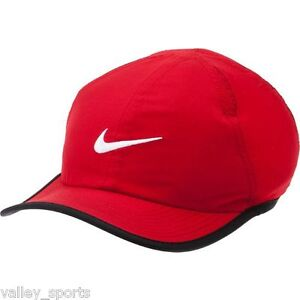 NEW! Red NIKE 2.0 Golf Youth Unisex Runner DRI-FIT Tennis Hat ... a9b088c1729