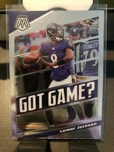 Lamar-Jackson-2020-Panini-Mosaic-Football-GOT-GAME-Base-Insert-Card-RAVENS-GG24