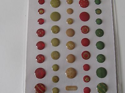 39 X CABOCHONS DIFFERENT SIZES RED/GREEN/CLAY *FREE POST* L@@K