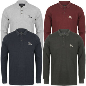 Tokyo-Laundry-Men-039-s-Cosenza-Long-Sleeve-Polo-Shirt-Top-Size-S-M-L-XL-XXL