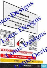 Massey Ferguson 135/148 Pegatinas/Calcomanías de advertencia