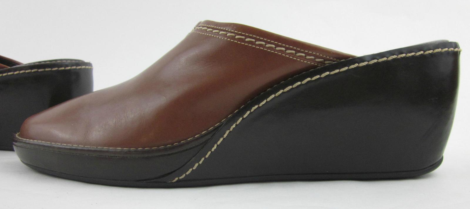 Cole Haan 'Elyssa' Slide Mule Wedges Bourbon Bourbon Bourbon   Dk Chocolate Leather US 11B 69b634