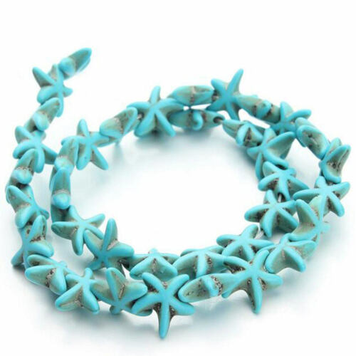 Turquoise 1.3cm*1.3cm Small Seed Beads Blue White Turquoise Beads Loose Spacer