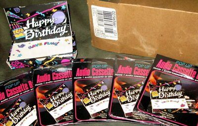 Vintage Audio Cassette Tape Happy Birthday Box New 3d Packaging Pop Up Gift Lot Storage & Media Accessories