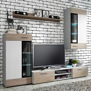 Das Bild Wird Geladen Moderne Wohnwaende Tango Wohnzimmer Set  Moebel Schrank Lowboard
