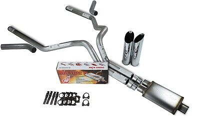 "98-03 Ford F-150 Truck Stainless 2.5/"" Dual Exhaust Kit 2 Chamber Muffler"