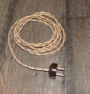 Cool Antique Brass 8 Vintage Lamp Cord Twisted Cloth Wire W Acorn Wiring Digital Resources Remcakbiperorg