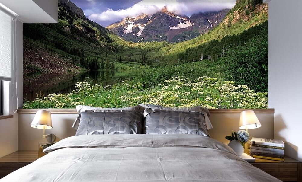 3D Mountain Flowers 6 Wall Paper Wall Print Decal Wall Deco Indoor Mural Summer