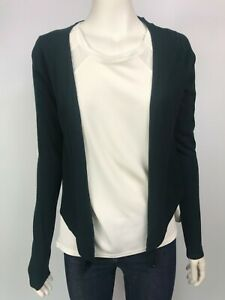 Chelsea-Design-size-S-knitted-dark-green-cardigan