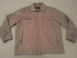 Mens London Fog Jacket L Large Khaki Coat Ebay