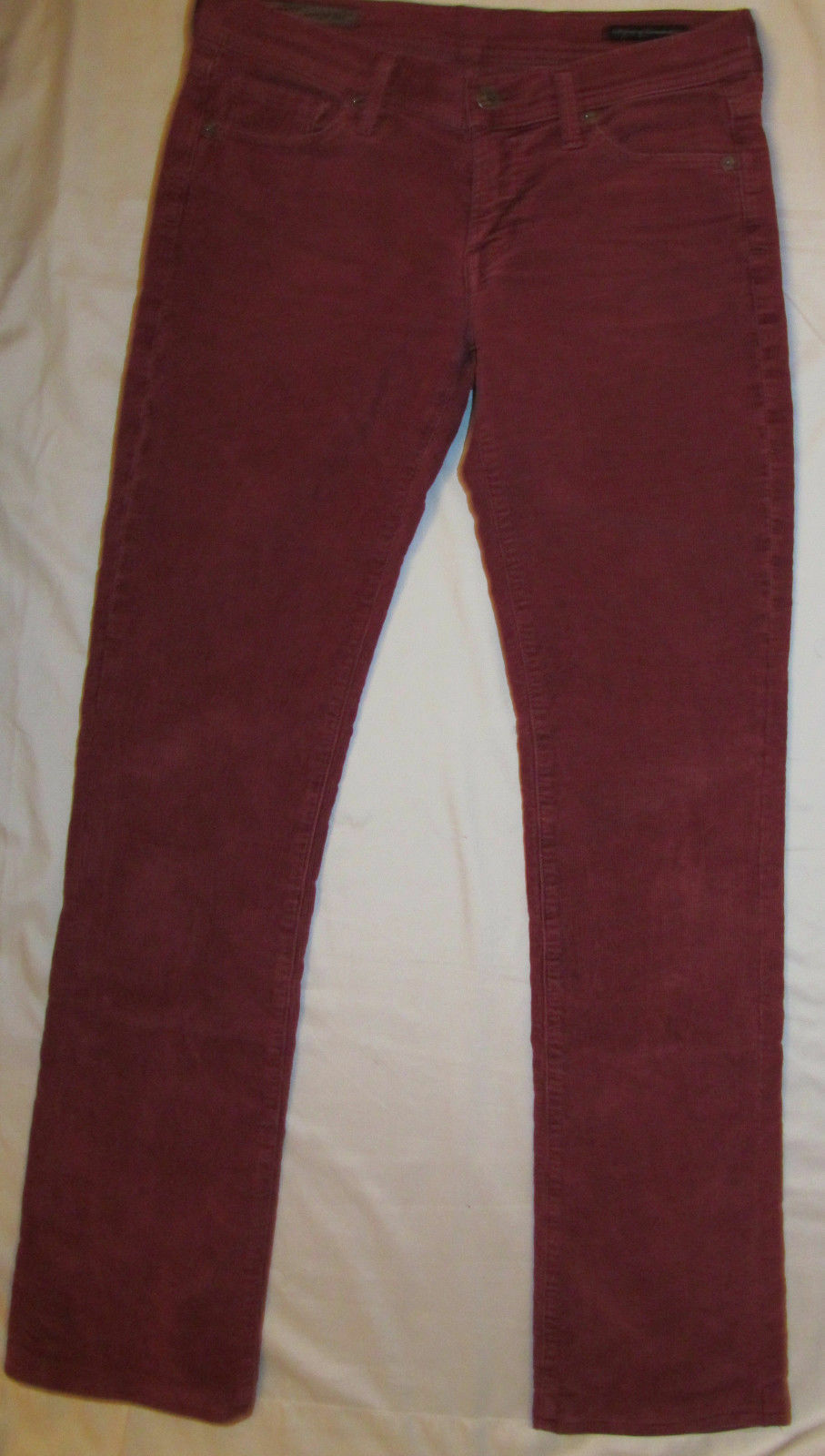 CITIZENS OF HUMANITY INGRID 002 STRETCH LOW WAIST boot rust red corduroy jeans