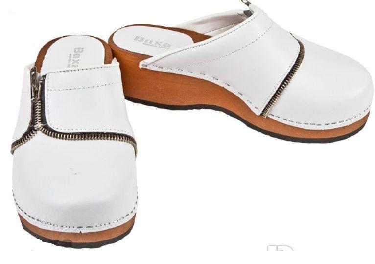 Mujeres Zuecos médicos De Cuero De Madera Color blancoo nos nos nos PZM tamaño de zapato 7c9619