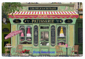 4-French-Art-Paris-PATISSERIE-Pastry-Sweets-Candies-Gift-Plastic-Placemat-New