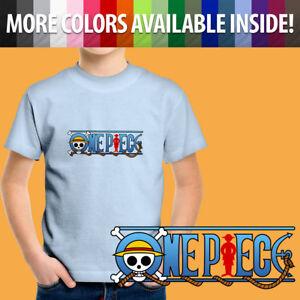 One Piece Pirate King Luffy Anime Cartoon Gift Unisex Kids Tee Youth T-Shirt Boy