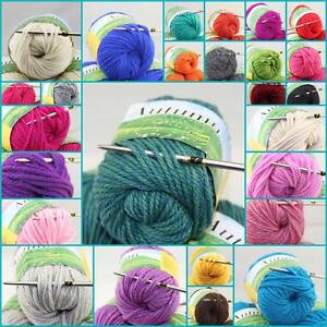 Sale-LOT-of-1-Ball-X-50gr-Chunky-Thick-Soft-warm-Wool-Hand-Knitting-solid-Yarn-B