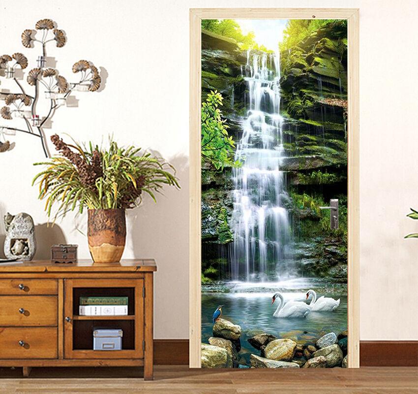 3D Wasserfall 86 Tür Wandmalerei Wandaufkleber Aufkleber AJ AJ AJ WALLPAPER DE Kyra | 2019  | Neues Design  |  3fb3ec