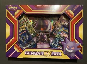 Gengar EX Collection Box Sealed POKEMON TCG Cards 4 Booster Packs Evolutions