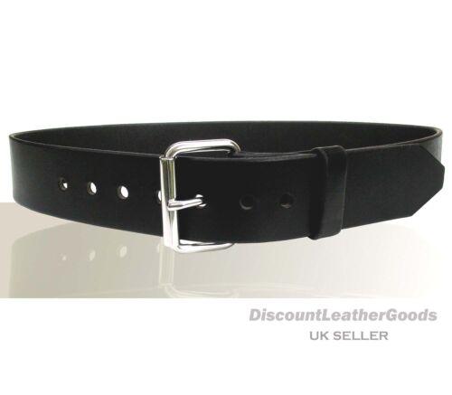 """Mens Belt 51mm//2/"""" Wide Press Stud Removable Buckle Black Handmade Leather Belt"""