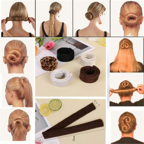 Mode DIY Frauen Haarschmuck Haarband Brötchen Maker Hochsteckfrisur Faltbare Hot