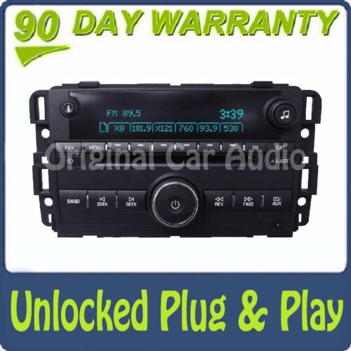 UNLOCKED Chevrolet OEM Radio Stereo AUX MP3 CD Disc Player Receiver Auxiliary