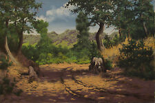 Miklos Neogrady ( Hungarian 20th century) Landscape Original Oil Painting