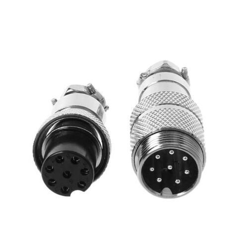 1Pair GX16 2-10Pin Female Male Aviation Connector Plug Circular Socket Metal