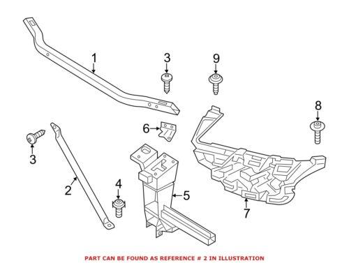 For BMW Genuine Radiator Support Panel Reinforcement Left 51647210503