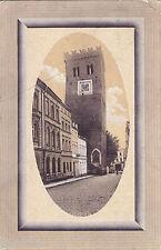 AK Frankenstein. Schlesien. Der schiefe Turm. Gelaufen 1911 nach Madagascar