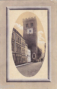 AK-Frankenstein-Schlesien-Der-schiefe-Turm-Gelaufen-1911-nach-Madagascar