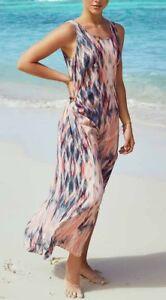 6cbfe65d4b8 Karen Kane 1L74106 Pink Tie Dye Side Slit Crepe Maxi Tank Dress ...