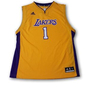 Details about Lakers NBA Adidas Youth Jersey #1 Russell