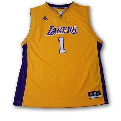 Lakers NBA Adidas Youth Jersey #1 Russell | eBay