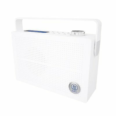 Majority Newnham DAB FM Digital Portable Radio With Rechargeable Battery White
