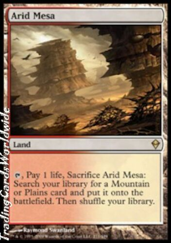 Arid Mesa NM Zendikar engl. Magic the Gathering