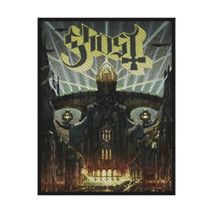 GHOST-Meliora-Woven-Sew-On-Patch-Official-Licensed-Band-Merch-Metal-Brand-New