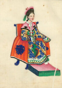 Late-19th-Century-Gouache-Album-of-Twelve-Chinese-Figures-on-Pith-Paper
