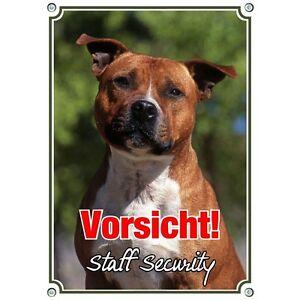 wetterbest/ändig Petsigns Hundeschild hochwertiges Metallschild Staffordshire Bullterrier