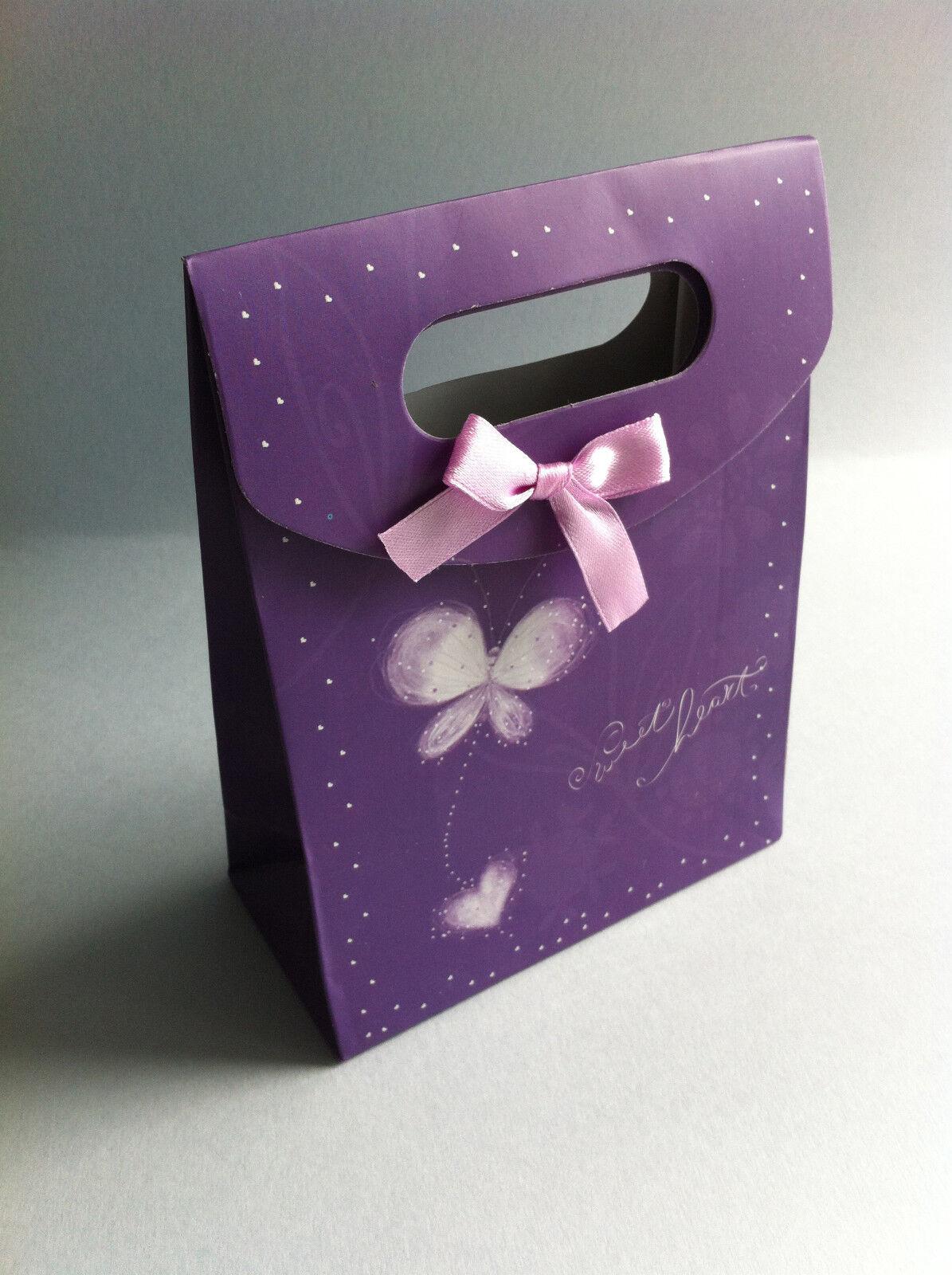2 Pochettes boite cadeau cartonné x papillon lilas violet 16 cm x 12,5 cm x cartonné 6 cm bc0a97