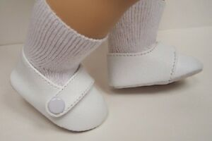 white baby step toddler doll shoes for bitty baby