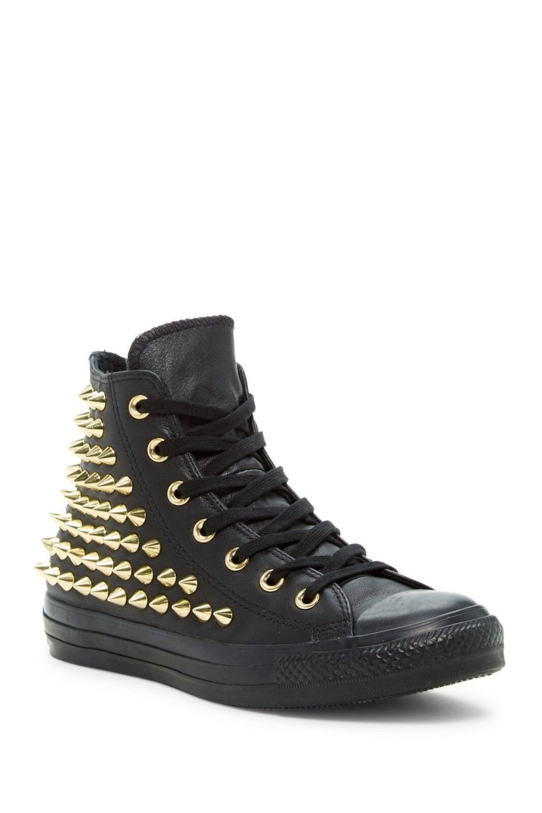 Converse 553017C Chuck Taylor® All Star® Black Leather Studded High Top Sneaker