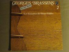 GEORGES BRASSENS 2 LES AMOUREUX DES BANCS PUBLICS LP PHILIPS FRENCH CHANSON NM