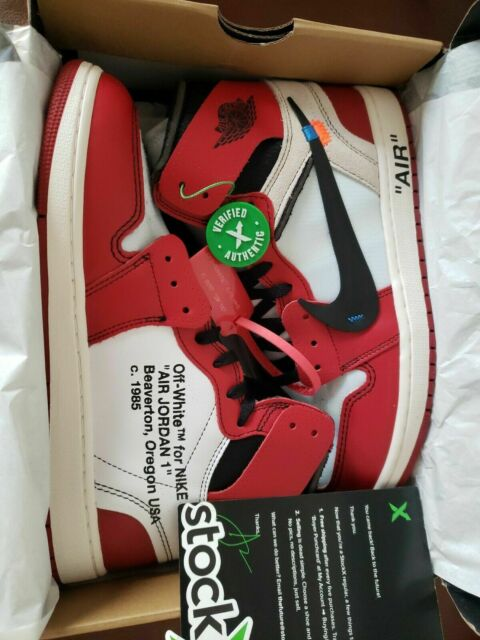 53079aa7 off White Air Jordan 1 Chicago Stock X Verified Size 10. for sale ...