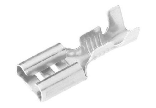 10x Flachsteckhülsen versilbert 6,3mm für Kabel 2,5qmm flat push on silver plate