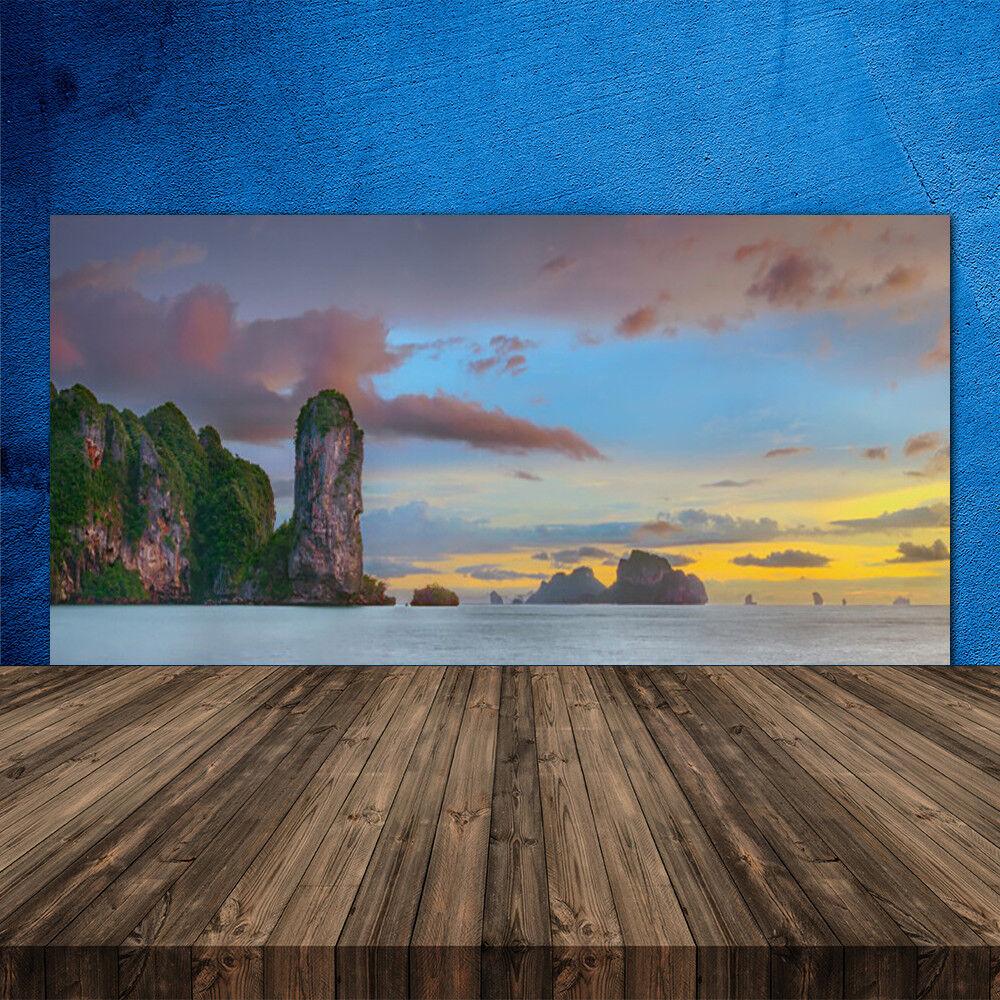 Crédence de cuisine en verre Panneau 120x60 Paysage Montagnes Mer