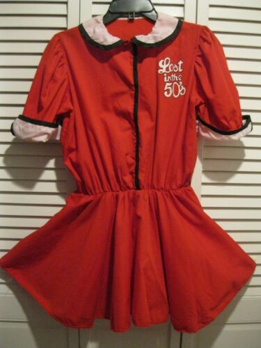 VTG Lost in the 50's Halloween costume Short Red D