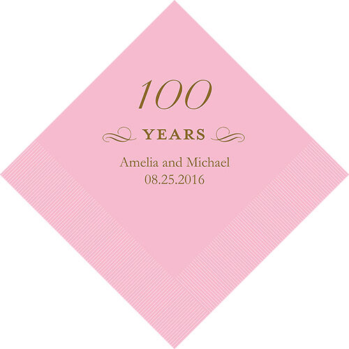 500 Personalized 100th Birthday Luncheon Napkins