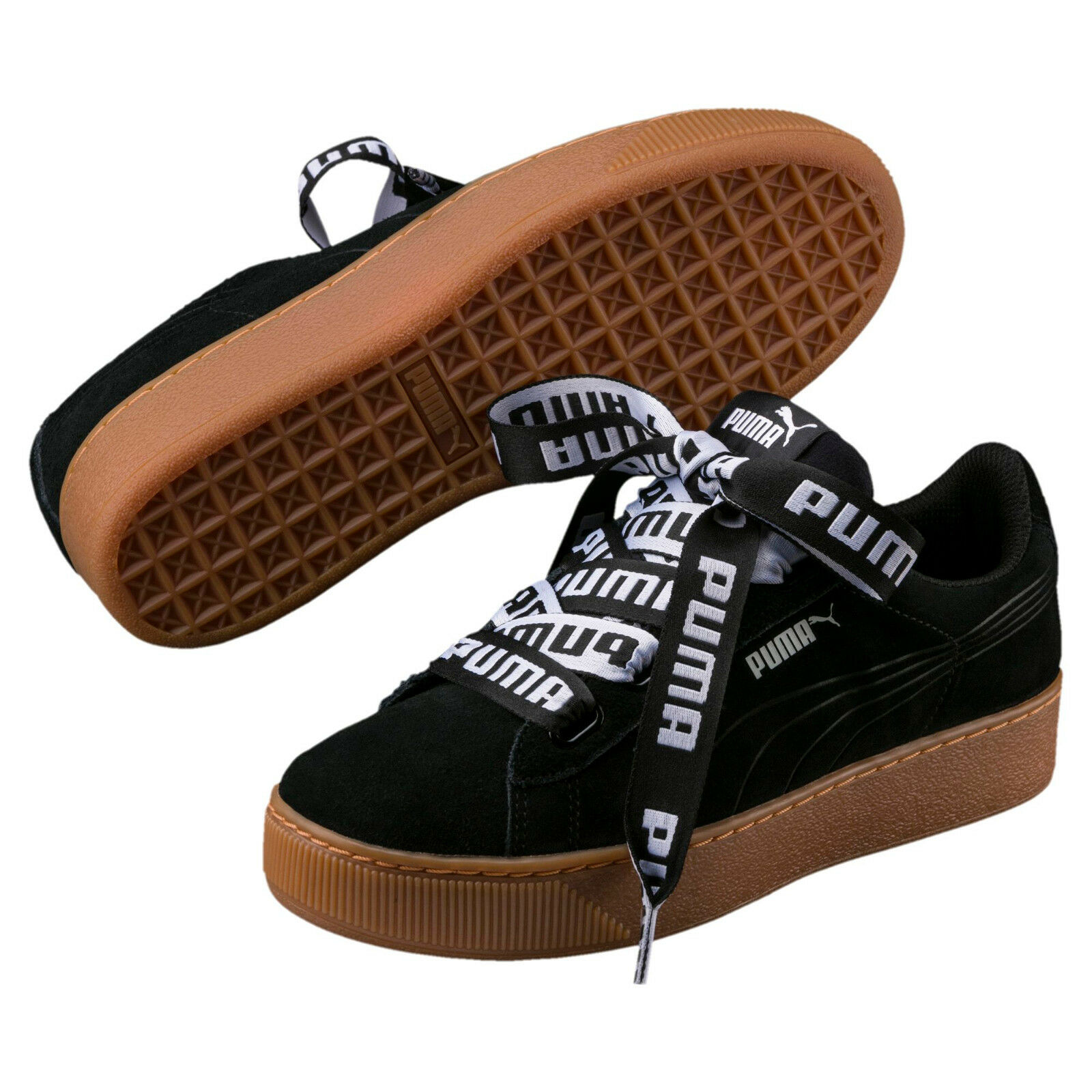 PUMA Vikky Sneaker Platform RIBBON Bold 40 da Donna Plateau Sneaker Vikky softfoam UVP * 47abb3